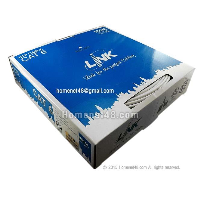 สายแลน CAT6 UTP Link (250 MHz) (US-9106-1) ในอาคาร กล่องเล็ก (100M/Box)