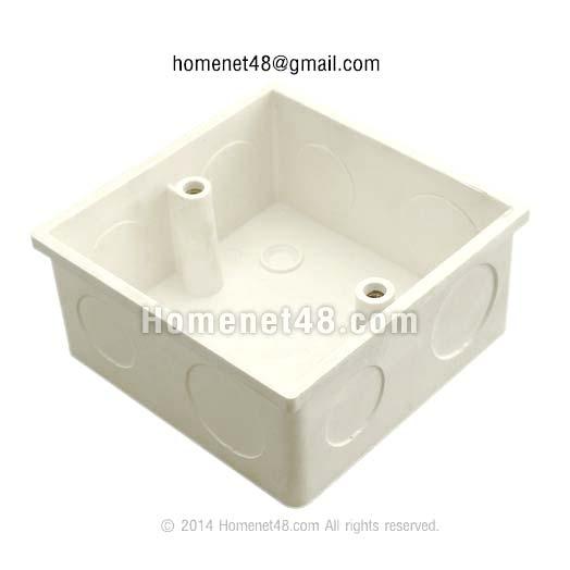 กล่องลอย บล็อคฝัง พลาสติก (2 in 1) สำหรับหน้ากากสี่เหลี่ยมจัตุรัส เกรด A อย่างหนา