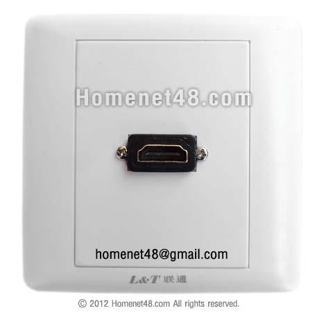 หน้ากากเต้ารับสาย HDMI ตัวเมีย (F>F) 1 ช่อง
