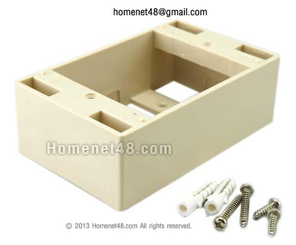 กล่องรองหน้ากาก (Link) สี่เหลี่ยมผืนผ้า ลึก 3.8 ซม.