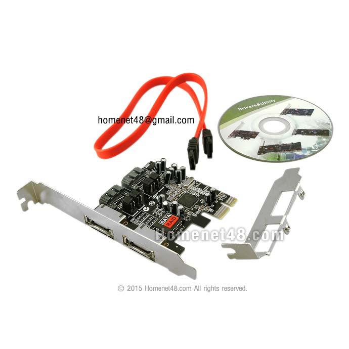 PCI Express to 2 E-Sata + 2 sata  (Slot ยาว+สั้น)
