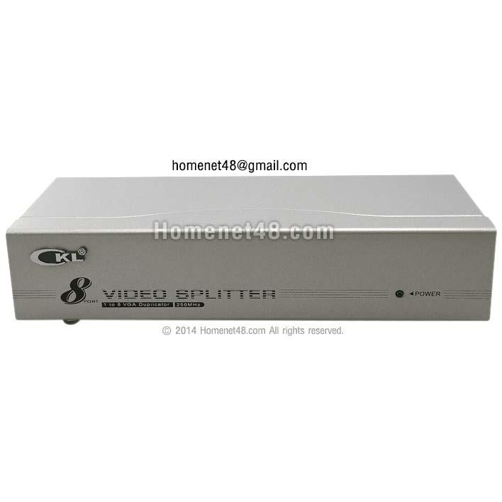 VGA Splitter กล่องแยกสัญญาณจอภาพ ออก 8 จอ (CKL)