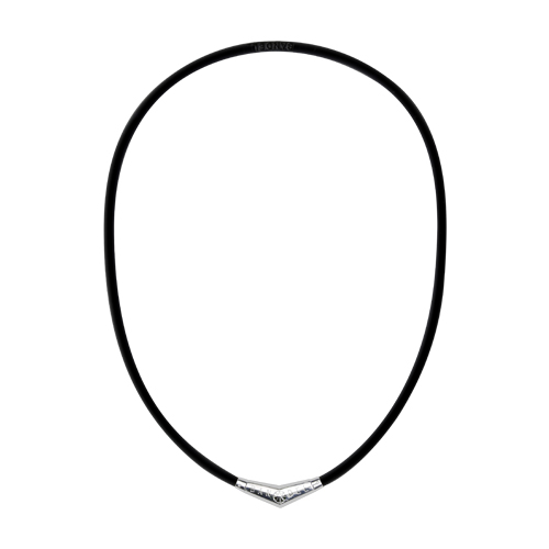 titan rubber necklace BlackxSilver