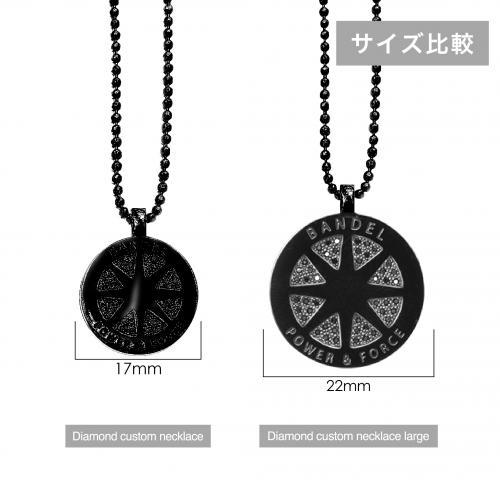 diamond custom necklace large Black