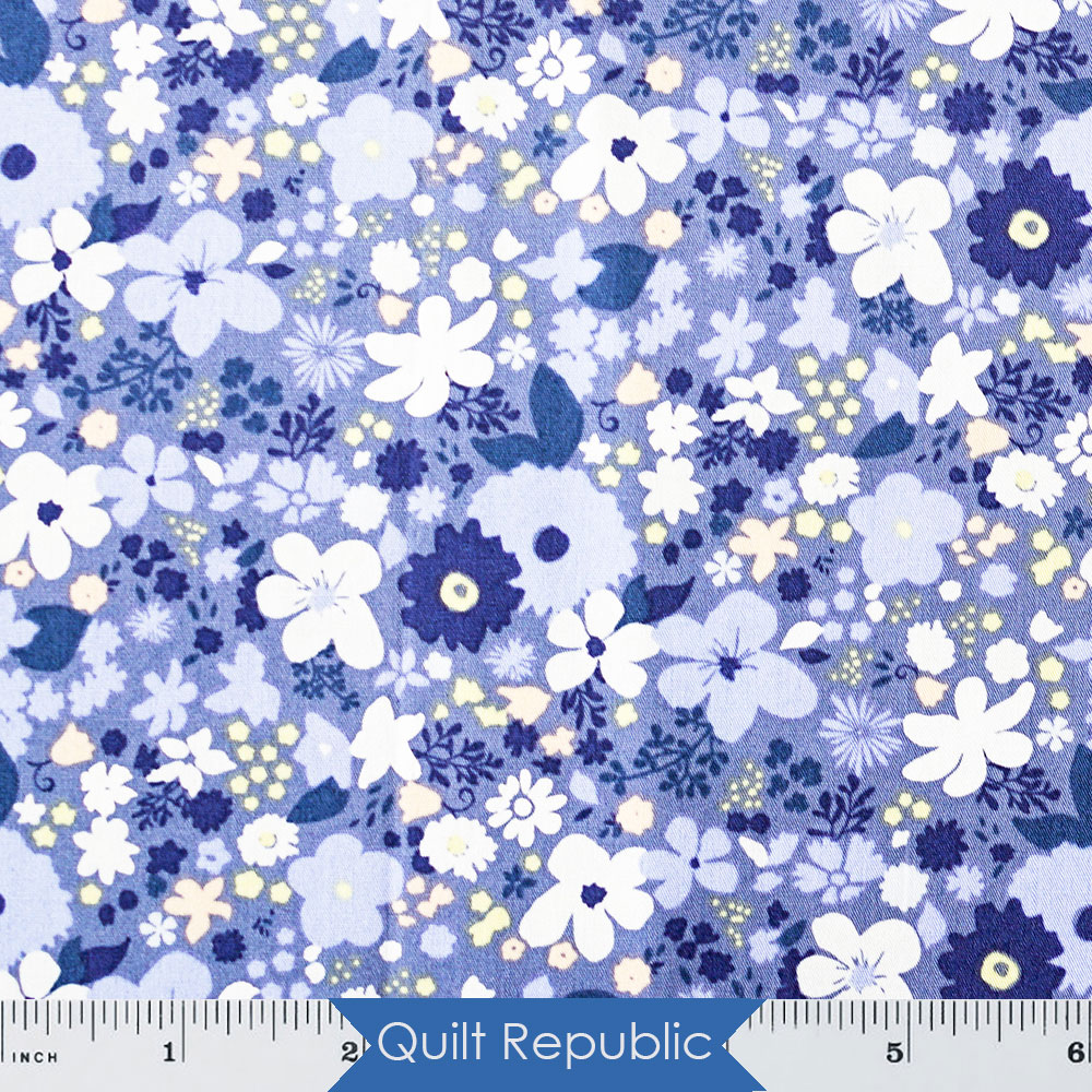 Art Gallery Chic Flora Vintage Rush Blue