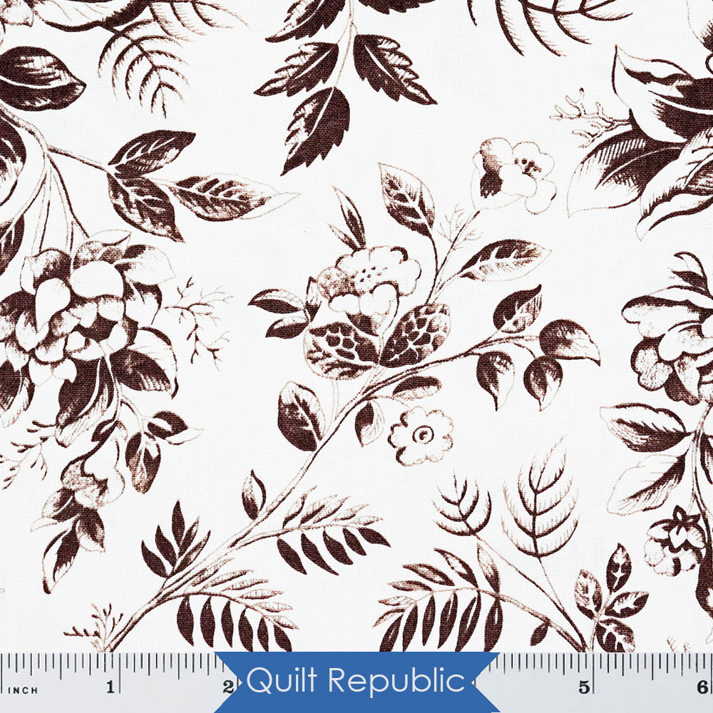 Windham Simply Red Cream/Brown Small Floral