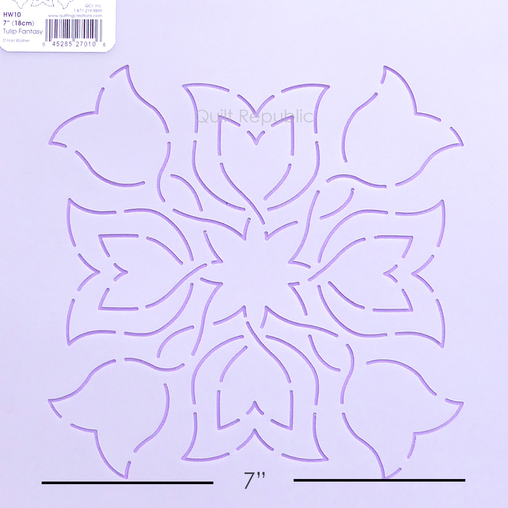 Quilting Creation Stencil Tulip Fantacy 7 Inches