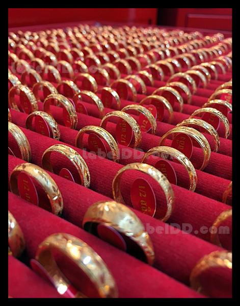 สติ๊กเกอร์ดัมเบลติดแหวนทอง