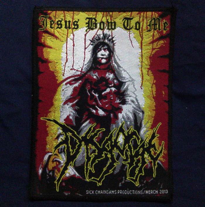 DISGORGE'Jesus Bow To Me' Woven Patch.