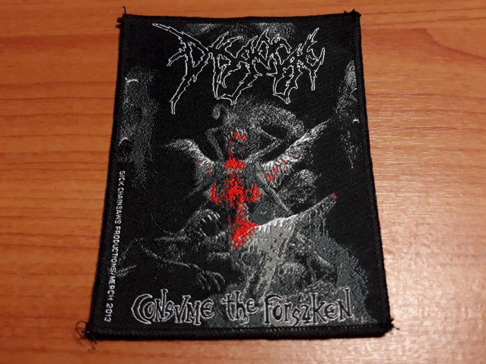 DISGORGE'Consume The Forsakent' Woven Patch.
