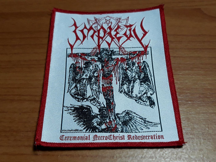 IMPIETY'Ceremonial Necrochrist Redesecration' Woven Patch.