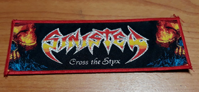SINISTER'Cross The Styx' Woven Patch.(long)
