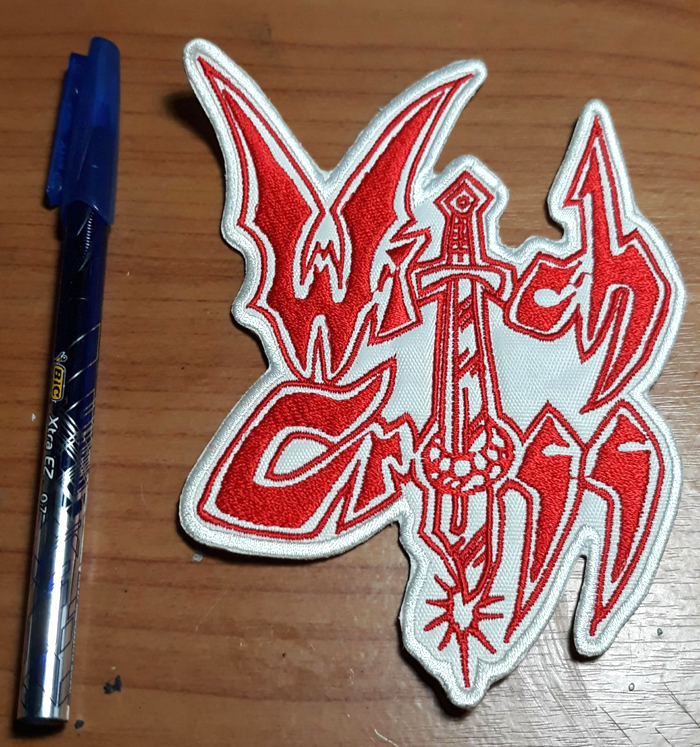 WITCH CROSS'Logo' Embroidered Patch.
