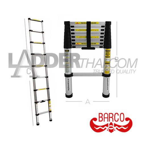 บันไดยืดหดได้ พาดและเลื่อน BARCO ( TPQ-BAMST )