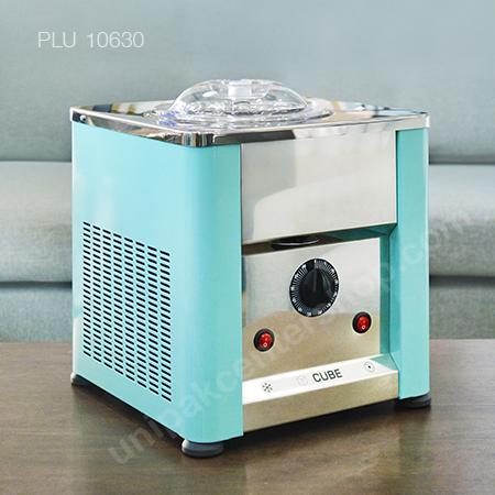 เครื่องทำไอศครีม cube mini  จาก อิตาลี, โถจุ 1.7 ลิตร ทำไอศกรีมได้ 8 – 10 ถ้วย/รอบ(700 - 900 g), ตัวเครื่องวัสดุ สเตนเลส