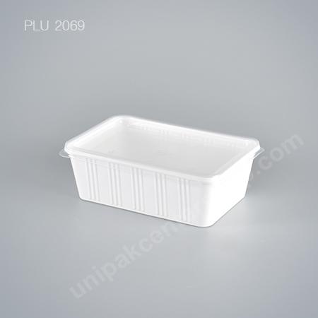 กล่องอาหาร 1 ช่อง PP ขาว 750 ml + ฝา