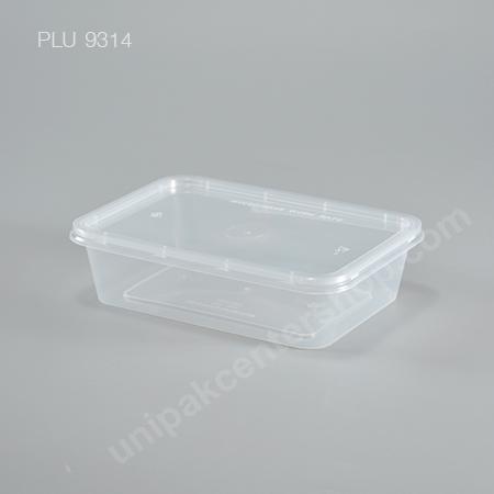 กล่องอาหารเหลี่ยม  PP 500 ml (AS302/SL006) พร้อมฝา