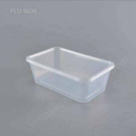 กล่องอาหาร 1 ช่อง PP ใส (1200ml) + ฝาใส