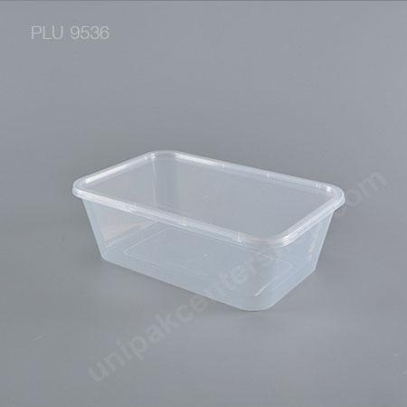 กล่องอาหาร PP ใส  1 ช่อง (1500 ml) + ฝาใส
