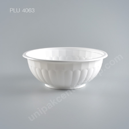 ชามบะหมี่ PP สีขาว #180mm (White Bowl - no lid)