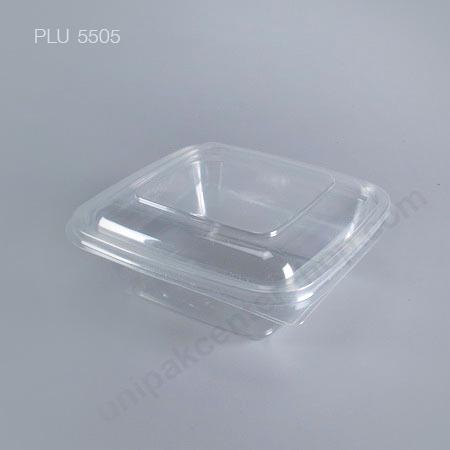 กล่องสลัด ใสเหลี่ยม M-036 +ฝาในตัว (750 ml) (Square Salad Box)