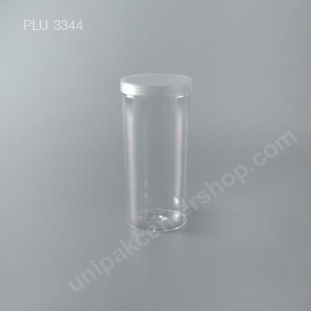 กระบอก แข็งใส 700 ml + ฝาขาว (Cylinder Hard Plastic Case) NO0777