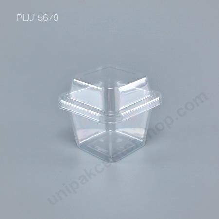 กล่องเบเกอรี่ PET เหลี่ยม MC-002C + ฝา