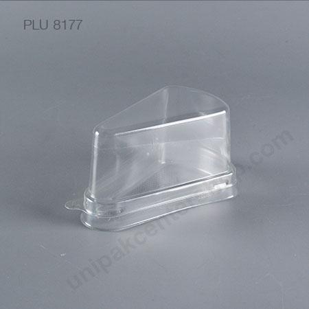 กล่องเค้กสามเหลี่ยม ใส PET C2 (Clear Triangular Cake Box)