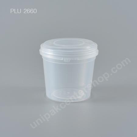 ถ้วย Safety Seal กลมPP+ฝานูนใส (230ml) NO.1641