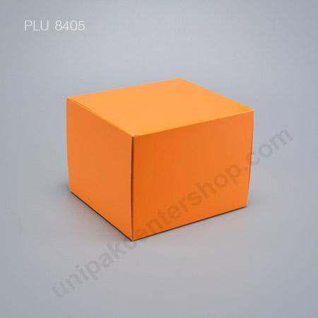 กล่องเค้ก กระดาษ 14x15.25x11.5cm สีส้ม