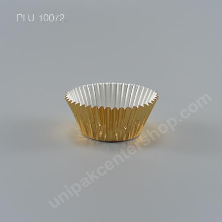 กระทงกระดาษฟอยล์ 7.3x5x3.2 cm (Gold Foil Paper Cupcake Liner) (3219 GOLD)