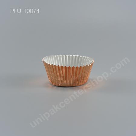 กระทงกระดาษฟอยล์ 7.3x5x3.2 cm (Rose Gold Foil Paper Cupcake Liner) (3219 ROSE GOLD)