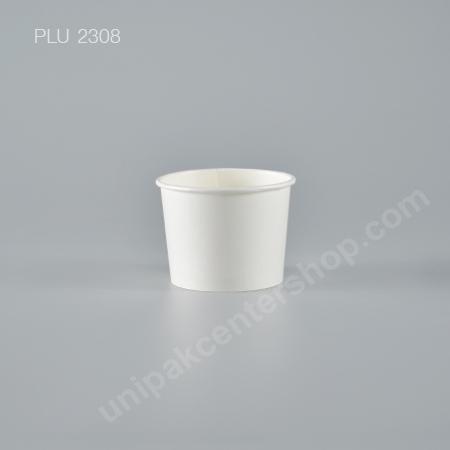 ถ้วยไอศกรีมกระดาษ 4 oz. สีขาว (Paper Ice Cream Cup - White)