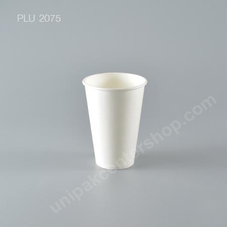 แก้วน้ำกระดาษ PC 12 oz. ขาว