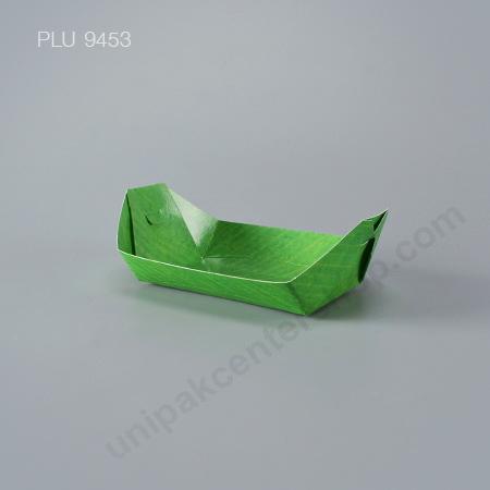 """FEST ถาดกระดาษทรงเรือ 8"""" (PT003) ลายใบตอง"""