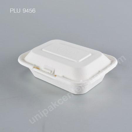 FEST BIO กล่องอาหารเยื่อธรรมชาติเหลี่ยม 450 ml