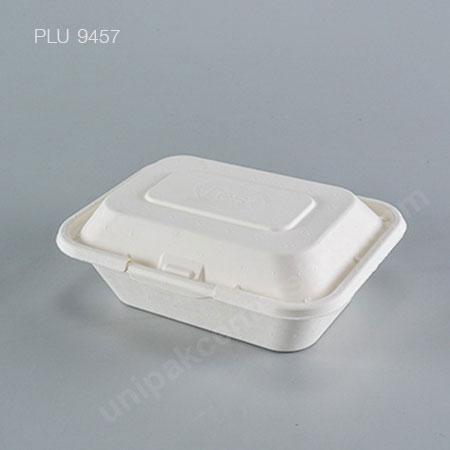 FEST กล่องอาหารเยื่อธรรมชาติเหลี่ยม 600 ml
