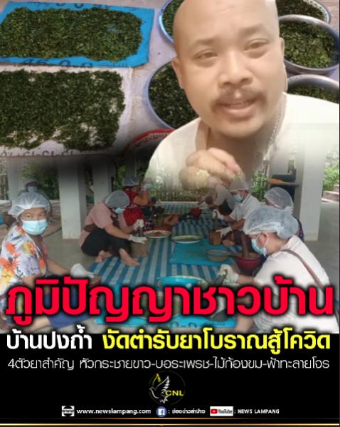 ชาวบ้านปงถ้ำ-ปงทอง รวมพลังนำภูมิปัญญาชาวบ้าน-ปลุกตำรับยาสมุนไพรไทย-สร้างภูมิคุ้มกันสู้โควิด