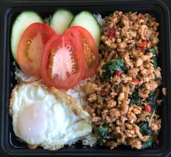 THAI STYLE BASIL WITH FRIED EGG