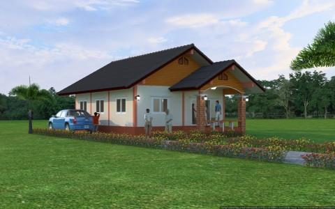 แบบบ้านชั้นเดียวเกษตรเพียงอยู่ BluePrint-0104