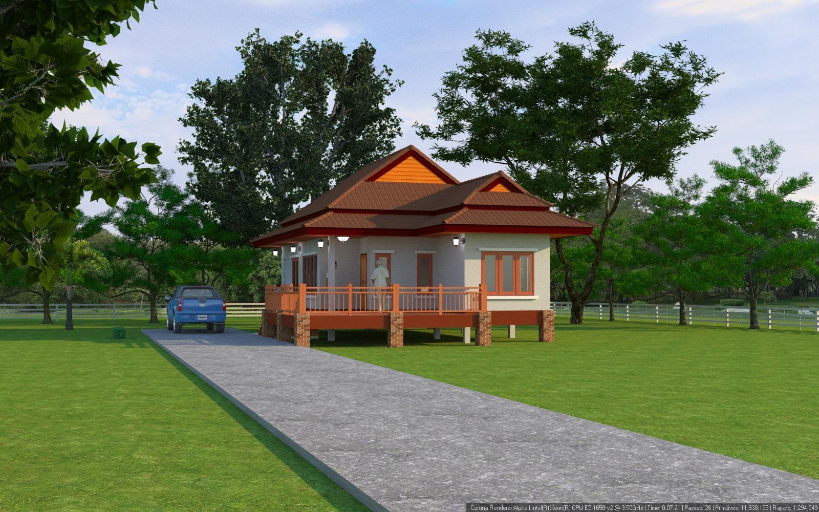 แบบบ้านชั้นเดี่ยวแบบบ้านบ้านเกษตรมีสุข BluePrint-0107
