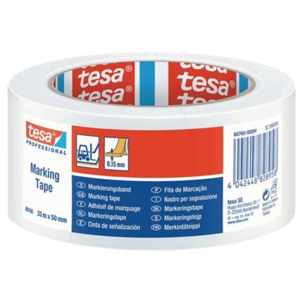 "TESA 60760  Floor Marking Tape (White  Size 2"" X 33M)"