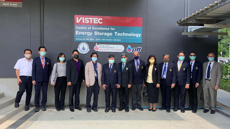 """CEST ให้การต้อนรับคณะผู้บริหารจากมหาวิทยาลัยมหิดลและ  ธนาคารไทยพาณิชย์ (SCB) ในโอกาสเข้าเยี่ยมชมสถาบันวิทยสิริเมธี (VISTEC) ในงานเสวนาแลกเปลี่ยนเรียนรู้ """"การขับเคลื่อนมหาวิทยาลัยสู่ระดับโลก"""" วันที่ 31 มีนาคม 2564"""