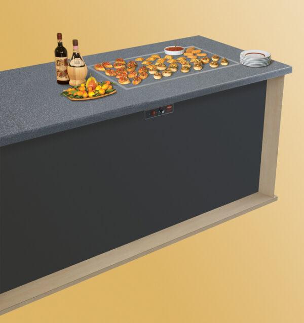 Rectangular Heated Stone Shelf