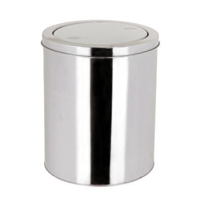 ถังขยะสแตนเลส ฝาสวิง 3 ลิตร ใช้ในห้องพัก 1402-055