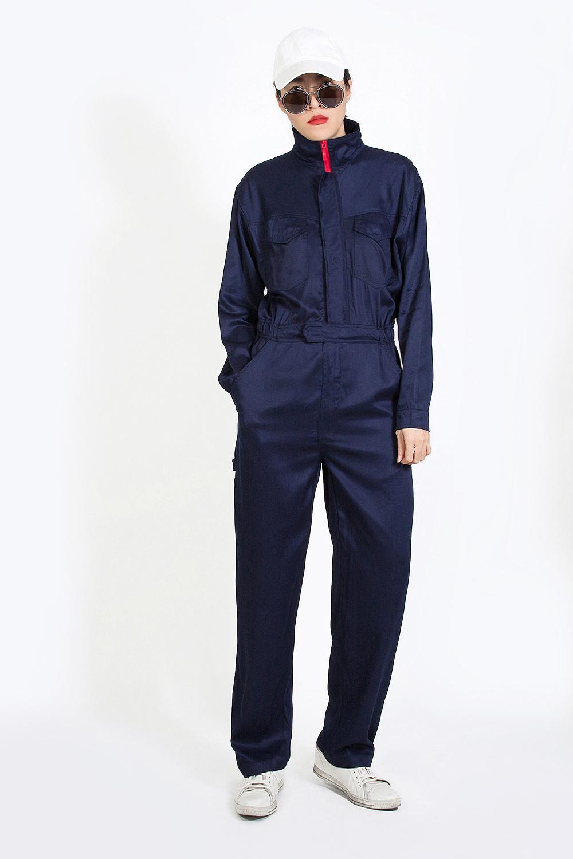 จั๊มสูทสไตล์ช่างฟิต  Navy Blue Power Mechanic Jumpsuit