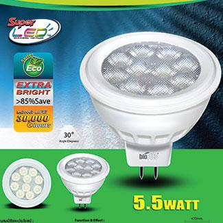 หลอดส่องเพชร GU5.5 LED Biobulb