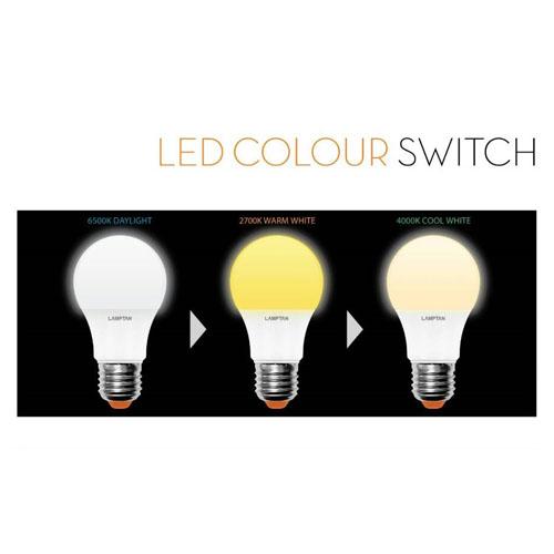 หลอด LED 3 สี LAMPTAN, หลอด LED สี 5W BioBulb, หลอดสลับสี LED Ball Colorful LAMPTAN