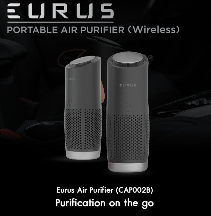 EURUS CAP002B Wireless เครื่องฟอกอากาศรถยนต์ (ฟอก PM2.5 ได้)