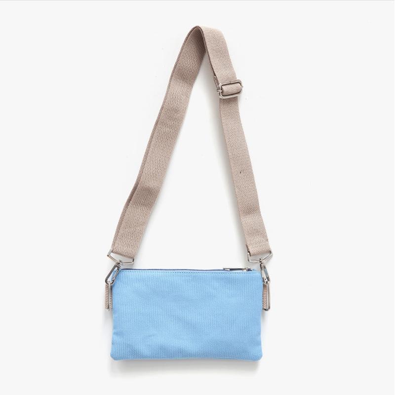 Casual Canvas Shoulder And Clutch Bag